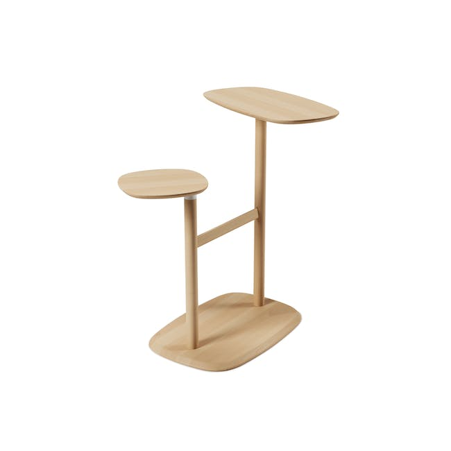 Nora Rattan Coffee Table with Swivo Side Table - 6