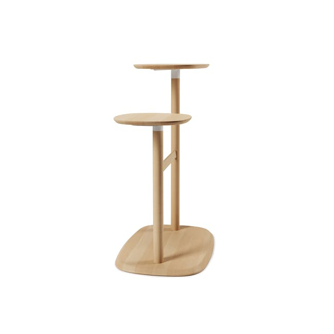 Nora Rattan Coffee Table with Swivo Side Table - 7