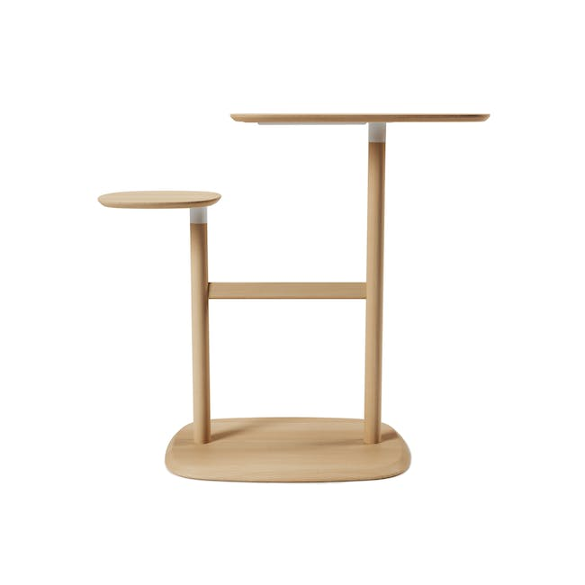 Nora Rattan Coffee Table with Swivo Side Table - 8