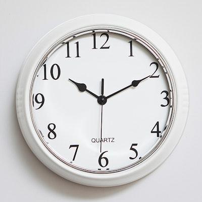 Retro Wall Clock - White