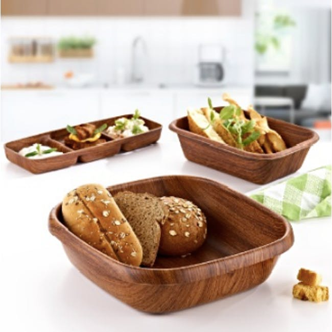 Evelin Square Bread And Fruit Bowl (2 Sizes) - 2