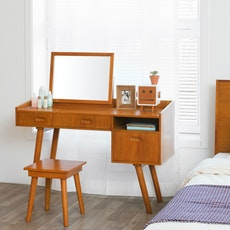 Retro Dresser Desk Console Set