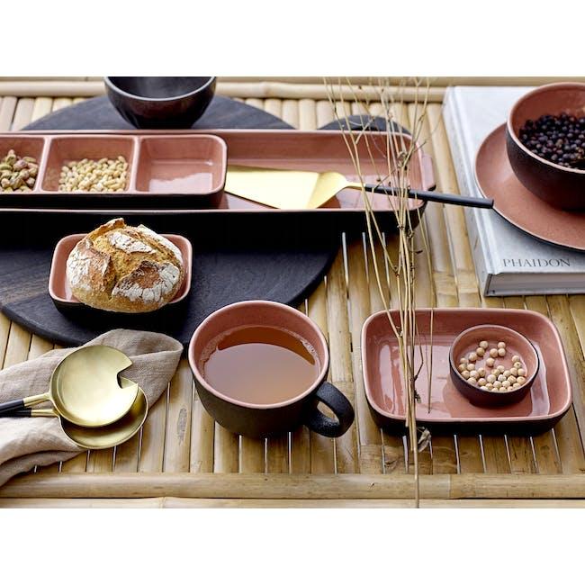 Sienna Serving Dish - Black, Orange - 5