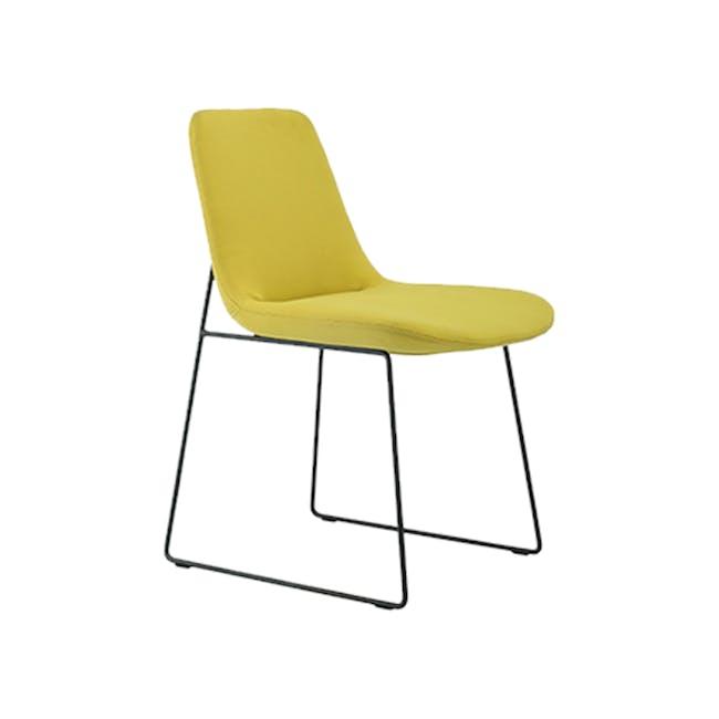 Aurora Dining Chair - Matt Black, Pistachio - 0