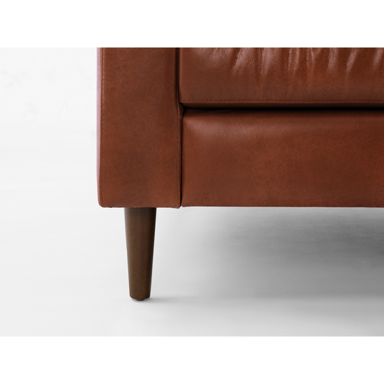 AK Avantgarde - Nolan 3 Seater Sofa - Cigar (Premium Waxed Leather)