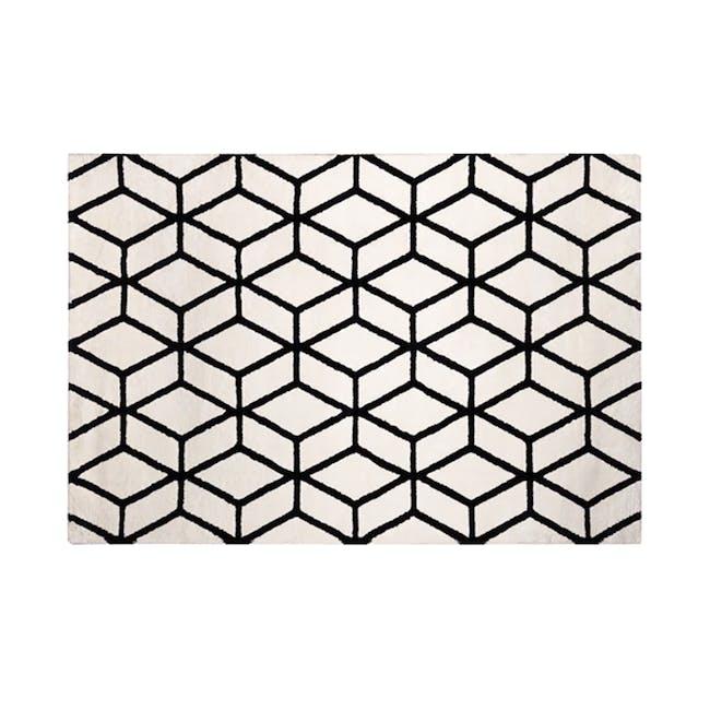 Play Low Pile Rug 2.3m x 1.6m - Trellis White - 0