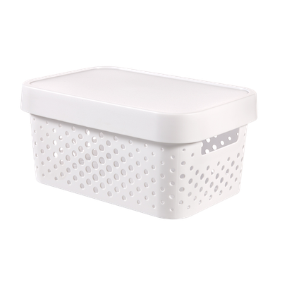 Infinity Box Dots + Lid - White - Image 1