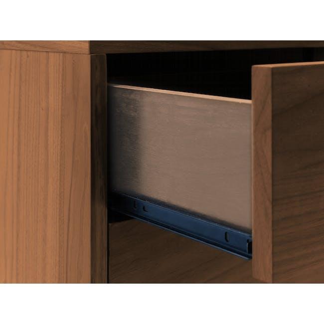 Kyoto Twin Drawer Bedside Table - Walnut - 8