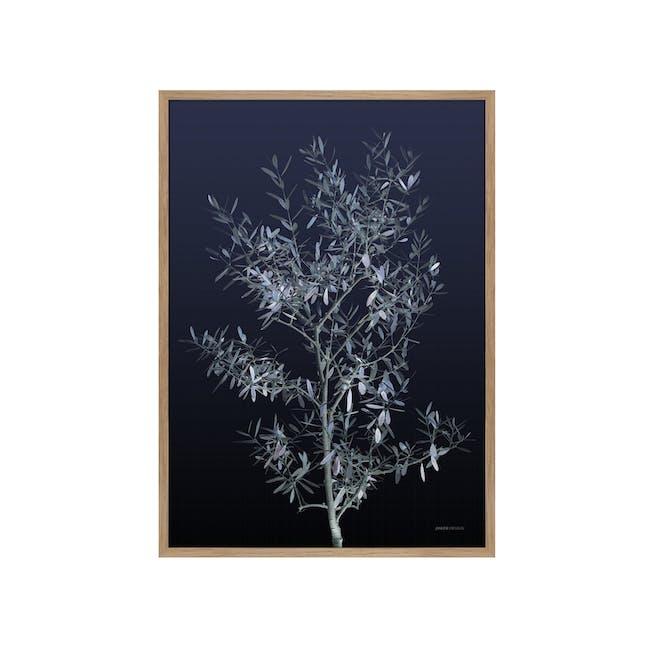 Botanical Portrait in Wooden Frame 50cm by 70cm - Black Olive - 0