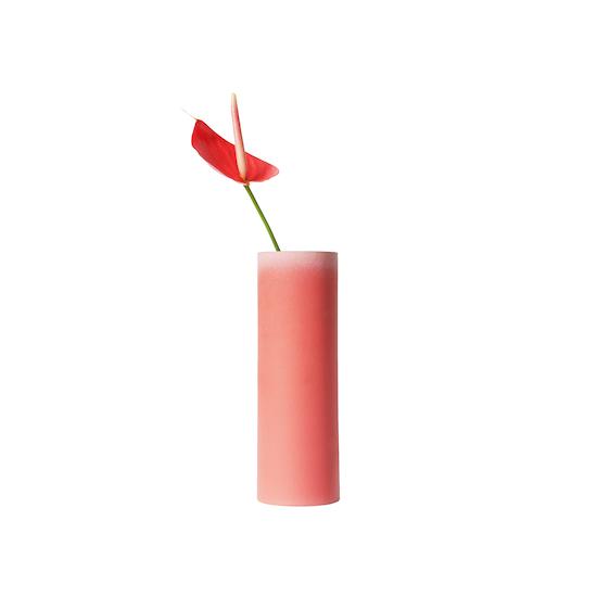 Tubular Vase - Tubular Tall Vase - Imperial Red