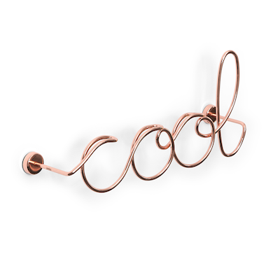Wired Cool Wall Decor - Copper - Image 2