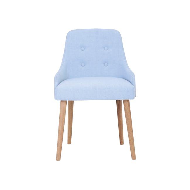 Caitlin Chair - Natural, Pale Blue - 1