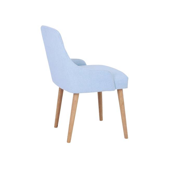 Caitlin Chair - Natural, Pale Blue - 2