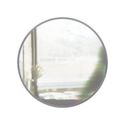 Hub Round Mirror 91 cm - Grey - Image 2