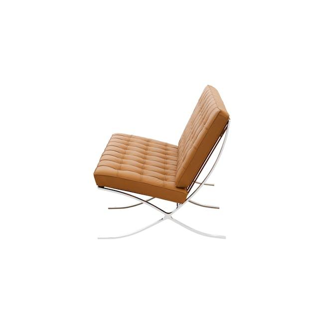 Barcelona 2 Seater Sofa Replica - Tan (Genuine Cowhide) - 2