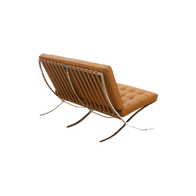 Barcelona 2 Seater Sofa Replica - Tan (Genuine Cowhide) - 3