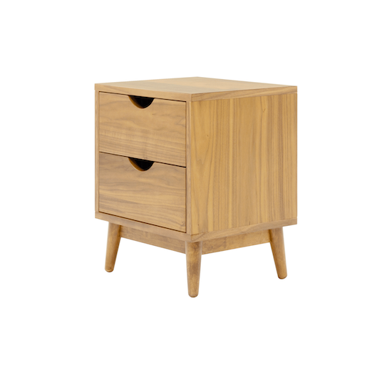 XSX - Kyoto Twin Drawer Bedside Table - Oak