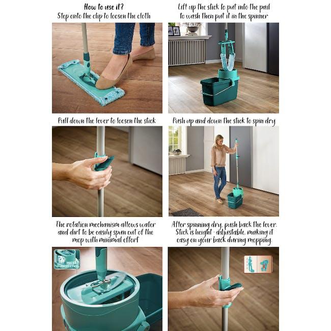 Leifheit Clean Twist Rectangle Mop Set - 5