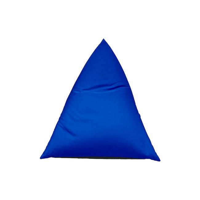 Splash Waterproof Outdoor Triangle Bean Bag - Blue - 6