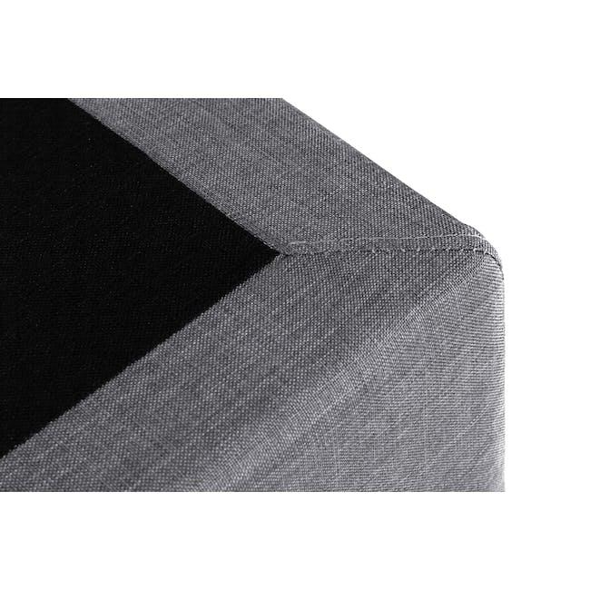 ESSENTIALS King Divan Bed - Grey (Fabric) - 4