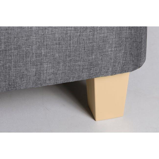 ESSENTIALS Super Single Divan Bed - Grey (Fabric) - 3