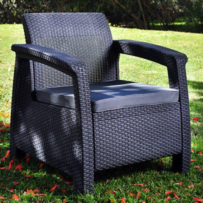 Corfu Outdoor Set - Grey - 6
