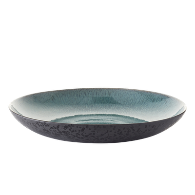Mayu Serving Plate - Grey, Green - Image 1