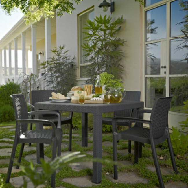 Quartet Outdoor Table - Grey - 1
