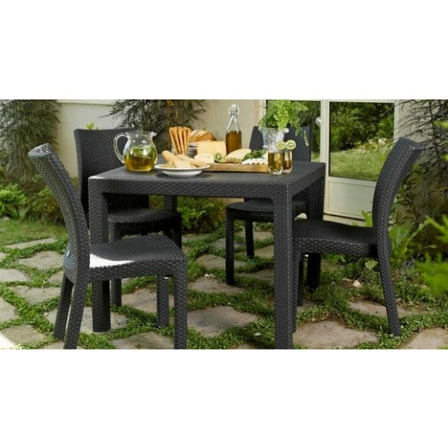 Quartet Outdoor Table - Grey - 2