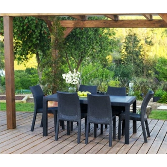 Keter - 6 Toscana Chairs + 1 Melody Table Outdoor Set
