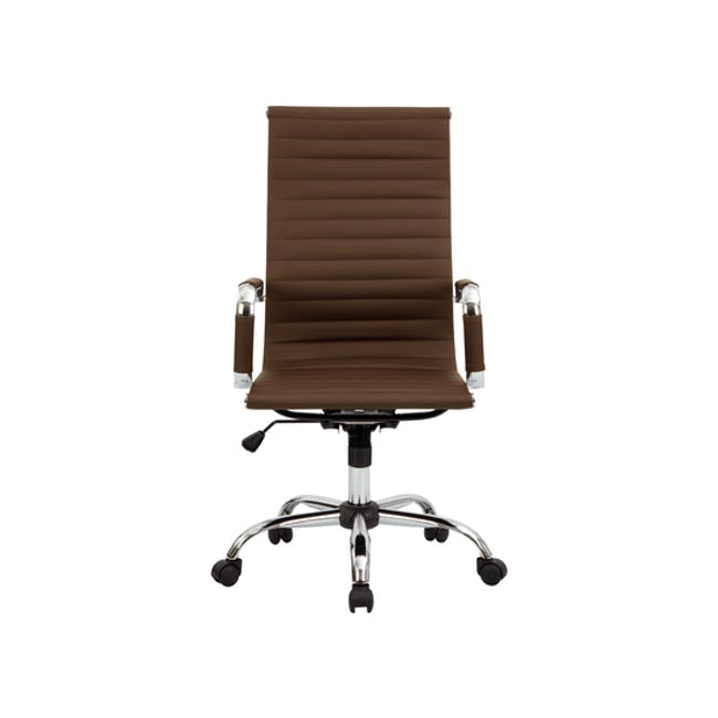 (As-is) Eames High Back Office Chair - Tan (PU) - 5 - 0