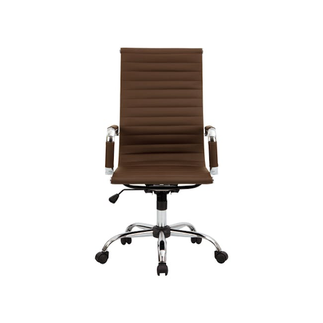 (As-is) Eames High Back Office Chair - Tan (PU) - 6 - 0