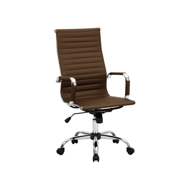 (As-is) Eames High Back Office Chair - Tan (PU) - 6 - 8