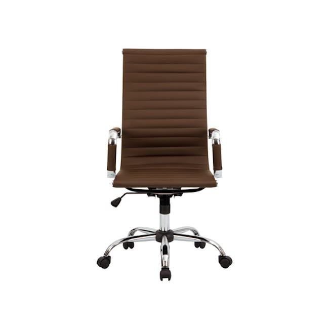 Eames High Back Office Chair Replica - Tan (PU) - 0