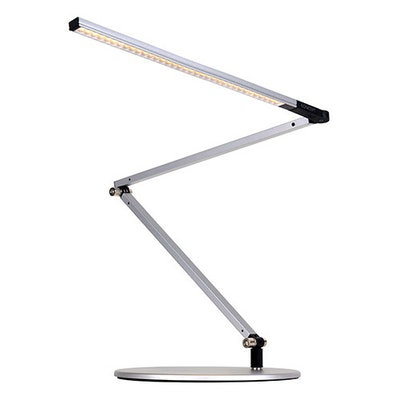 Z-Bar Slim LED Desk Lamp - Silver with Free 10000mAh Power Bank