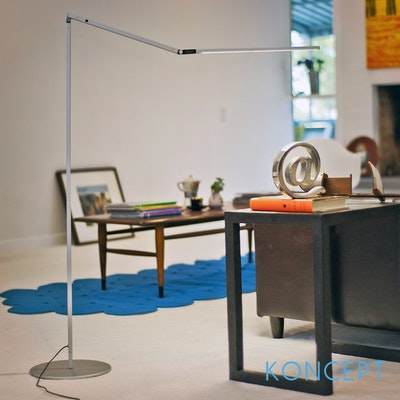Z-Bar LED Floor Lamp - Silver - Image 2