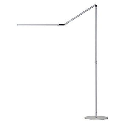 Z-Bar LED Floor Lamp - Silver with Free 10000mAh Power Bank