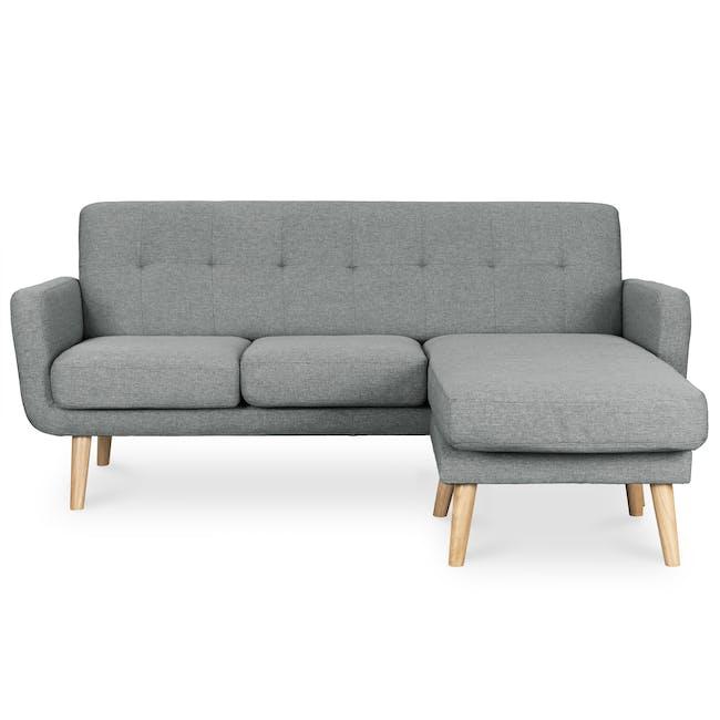Cali L-Shaped Sofa - Siberian Grey - 0