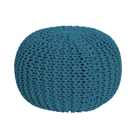 Singla Textiles - Moana Knitted Pouffe - Turquoise