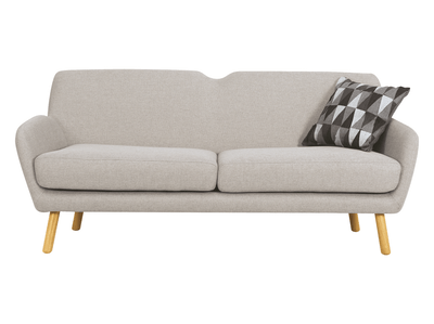 Joanna 3 Seater Sofa - Pale Silver - Image 1