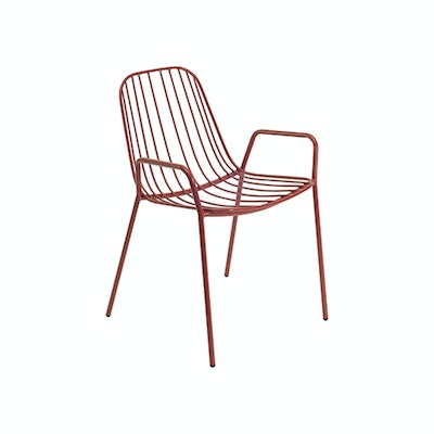 Nerissa Outdoor / Dining Arm Chair - Matt Red - Image 1