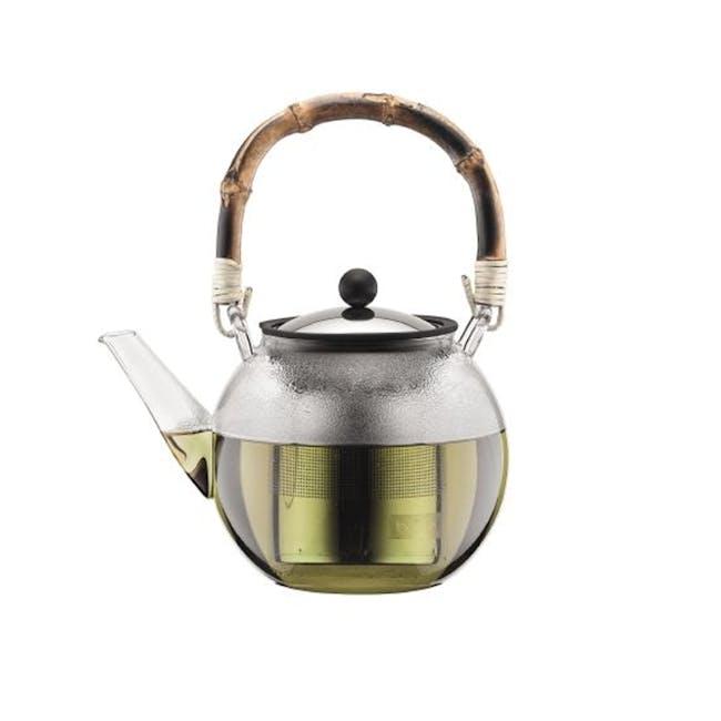 ASSAM Tea Press 1L - with Bamboo Handle - 0