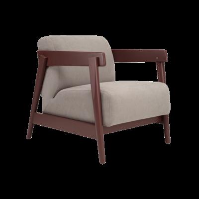 Daewood Lounge Chair - Penny Brown, Light Grey - Image 1