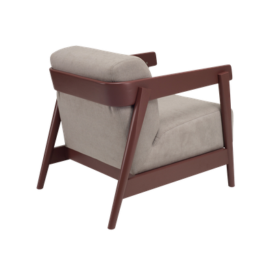 (As-is) Daewood Lounge Chair - Penny Brown, Light Grey -2 - Image 2