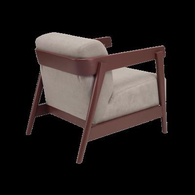 Daewood Lounge Chair - Penny Brown, Light Grey - Image 2