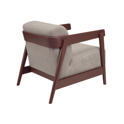 (As-is) Daewood Lounge Chair - Penny Brown, Light Grey - 1 - Image 2