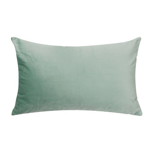 Alyssa Velvet Lumbar Cushion Cover - Jade - 0