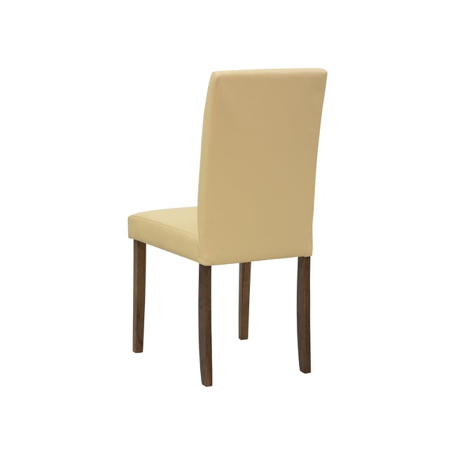 Charmant Dining Table 1.4m in Walnut with 4 Dahlia Dining Chairs in Caramel - 14