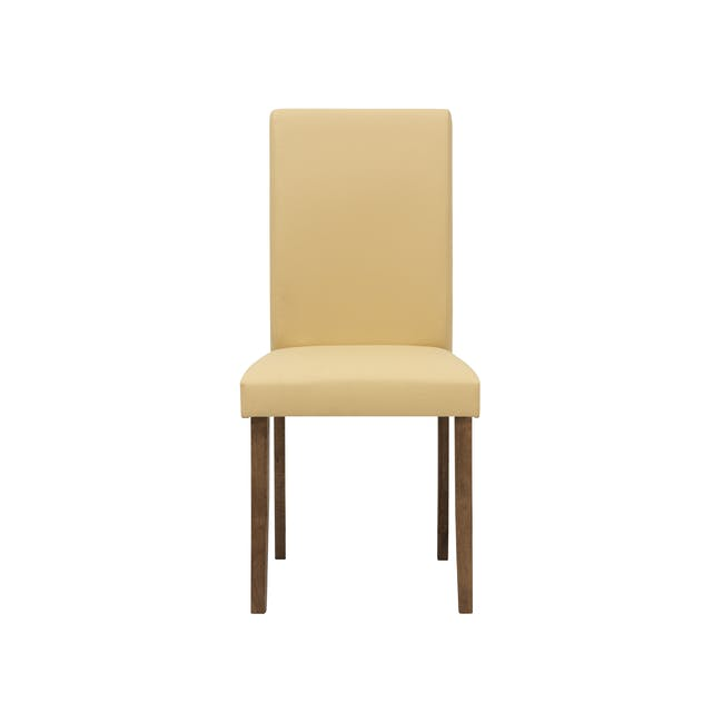 Charmant Dining Table 1.4m in Walnut with 4 Dahlia Dining Chairs in Caramel - 12