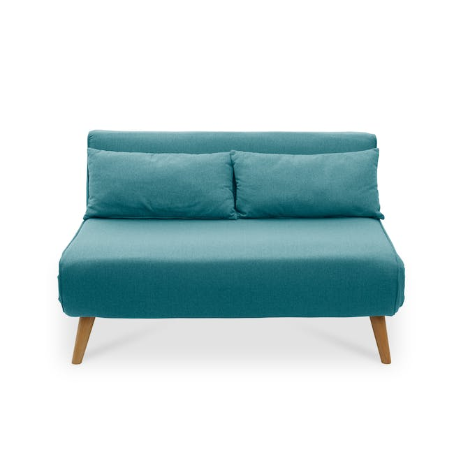 Noel 2 Seater Sofa Bed with Noel Sofa Bed - Teal - 4